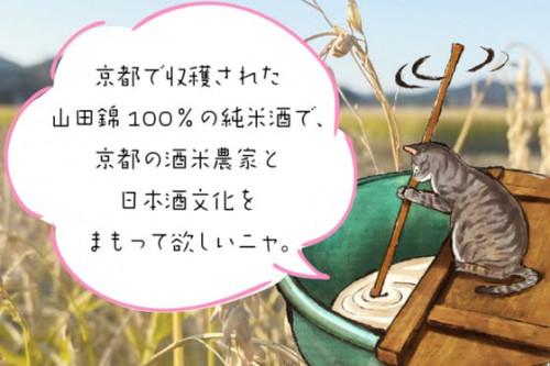 酒米農家と日本酒文化を守るため京都産山田錦の純米酒をたくさん飲んでもらいたい!