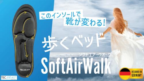このインソールで靴が変わる。 歩くベッド Soft air Walk。