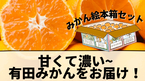 まるで食べるみかんジュース!?甘くて濃い和歌山名産の有田みかんを絵本箱でお届け!